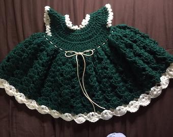 Girls green holiday dress