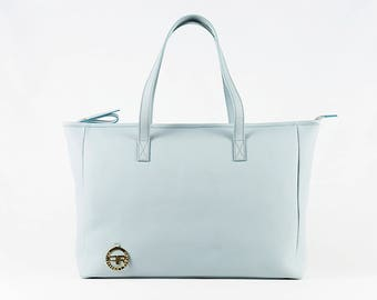 Artisan tote bag Ambra in soft 100% Italian leather