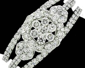 Stylish 14k White Gold Ring 1.14ct. Diamonds with IGI Certificate