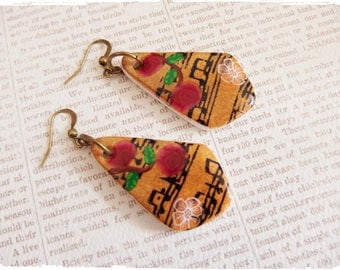 "Earrings ""music"" made in polymer clay *."