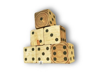 Giant Yard Dice | Huge Yard Dice | Lifesize Game | Lawn Dice | Custom Wedding Game | 6 Giant Dice Game | Party Games | Wedding Games | Gift