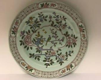 Vintage  Adams English Ironstone Calyx Ware, SINGAPORE BIRD - Dinner Plate