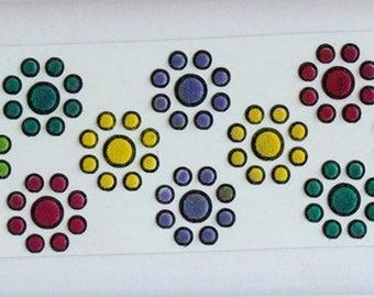 Plain Velvet Bindis, Round Bindis Stickers,Colorful Round Bindis,Multicolor Face Bindis,Bollywood Bindis,Self Adhesive Stickers