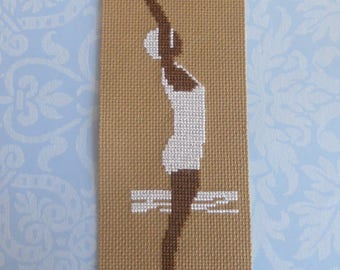 Bookmark retro bather