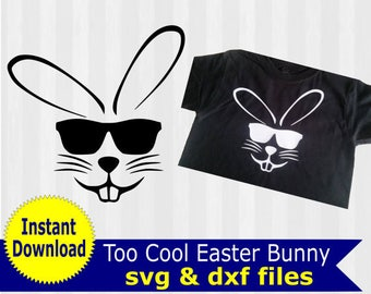 Easter bunny SVG, Easter svg, svg files for silhouette cameo, cricut explore, easter basket svg, boys easter shirt, easter bunny clipart