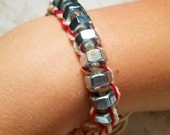 Hex hardware bracelet