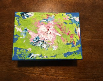 Original artwork Keepsake Box, hand painted in oil. 4 x 5 inches. The perfect gift for the art lover or collector in your life.
