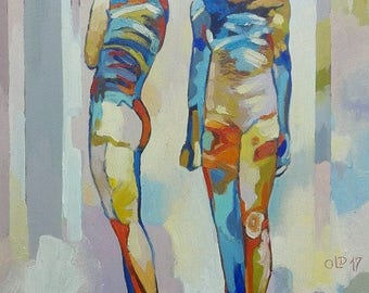 Figure 17 (Twins) original oil painting