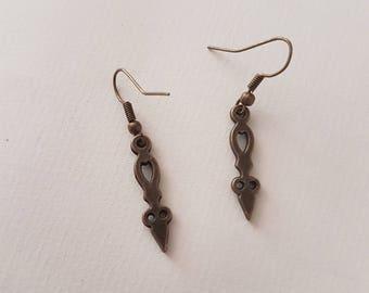 Clock hand earrings