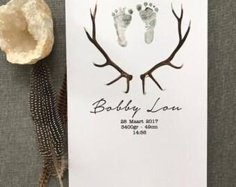 Bohemian birth poster
