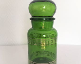 pot style apothecary glass of the 1970s