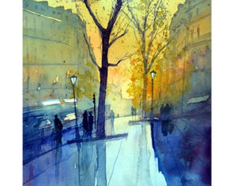 Paris Rain # 1. Limited Edition Giclee print Signed and numbered by the artist Martin Oates. *Buy two get one free*