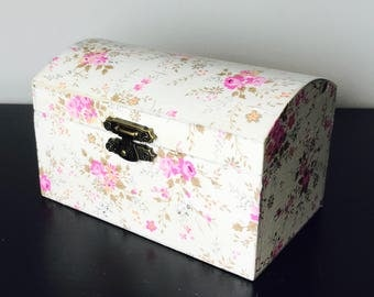 Wooden Handmade Decoupage Trinket or Keepsake Box 11.5 x 7 x 7... Made to order, Choose Your Design... Birthday, Housewarming, Wedding