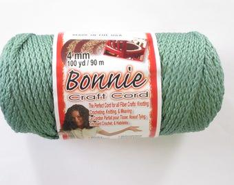Bonnie Macrame Craft Cord 4mm 100 Yards Cactus Green