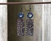 Antique Gunmetal Earrings Hand Stamped Earrings Bohemian Earrings Moroccan Earrings Black Earrings Bohemian Earrings