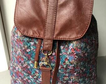 Handmade backpack Colorful backpack Backpack for her Felted backpack