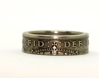 United Kingdom 2 Shilling Coin Ring