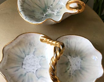 Pair of Italian Jewlery Dishes | Italian candy and nut Dishes | Serving Dishes