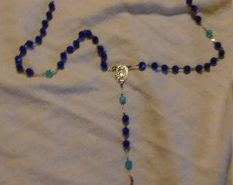 Ultramarine and Iridescent Blue Rosary