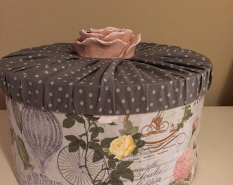 Deluxe fabric flower box