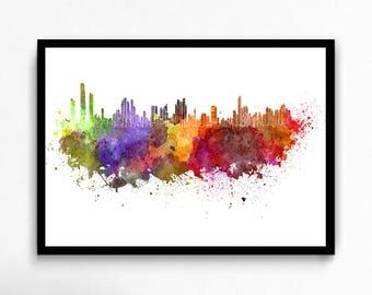 Watercolor Panama City canvas art print poster