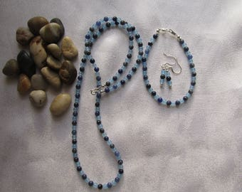 Sodalite and Blue Jade Set
