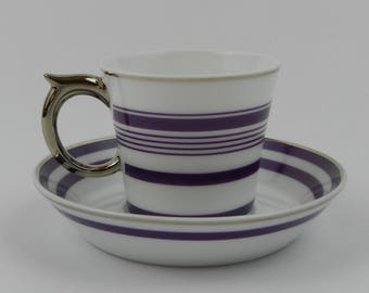Demitasse Cup & Saucer Set NESPRESSO Collection Bernardaud Limoges France