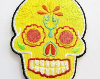 Mexican Sugar Skull Art Punk Rock Embroidered Iron On Patches New PVK 49