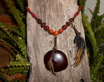 tribal necklace seed