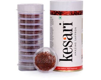 Genuine Grade A, All Red Natural Saffron, 12 grams( 1gm x 12 packs), ISO3632 certified
