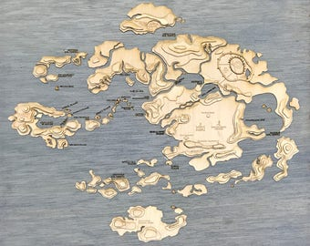 Avatar The Last Airbender Etsy - Avatar the last airbender us map