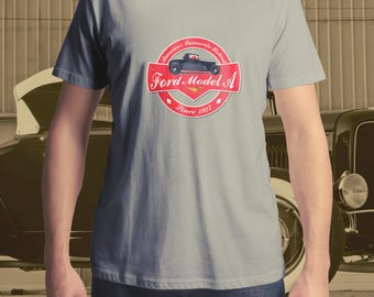 Ford Model A T-Shirt, Hot Rod T-Shirt, Men's T-Shirt, Women's T-Shirt,  Roadster T-Shirt, Classic Car T-Shirt, Custom Car T-Shirt