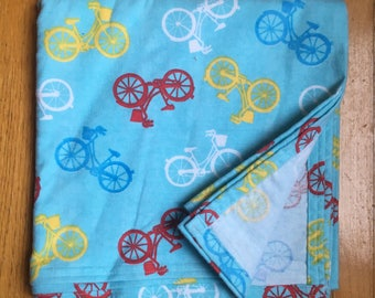 Bicycle Baby Receiving Blanket - Single Layer