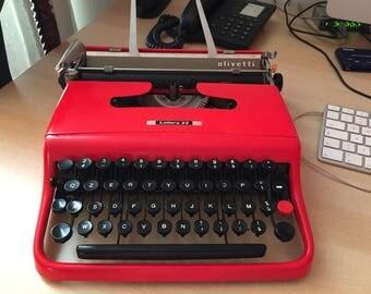 Renewed Olivetti Lettera 22 typewriter (1st series)