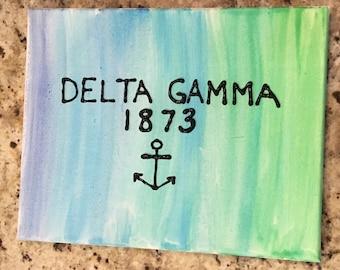 Watercolor Delta Gamma