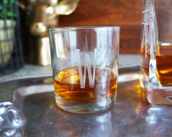 Monogram Whiskey Lowball Glasses (set of 2)