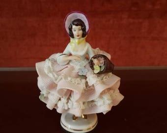 Elegant German DRESDEN porcelain figurine