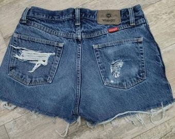 High Waisted Distressed Festival shorts.