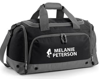 iLeisure Netball Figure with your Name/Club Holdall Printed Kit Bag.