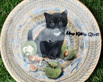 Hey Kitty Girl! plate / dish Cat Kitty Kitten  Cute RuPaul Drag Race Kitsch Vintage Dragrace quote Sass upcycled