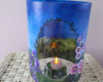 Large Purple Iris tealight/votive