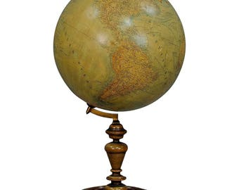 a great antique colorful globe published by Heymann, Berlin ca. 1900