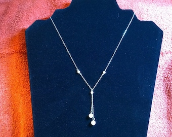 Vintage MoP Necklace on a Sterling Silver Chain