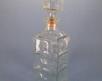 Walker's Deluxe Bourbon Empty Liquor Decanter Square Bottle 1976