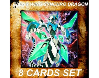 Yugioh Orica Anime Clear Wing Synchro Dragon Set of 8 cards