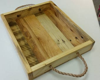 Wood Serving Tray Custom Handcrafted Reclaimed Wood