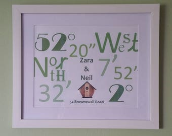 Personalised Coordinate Print
