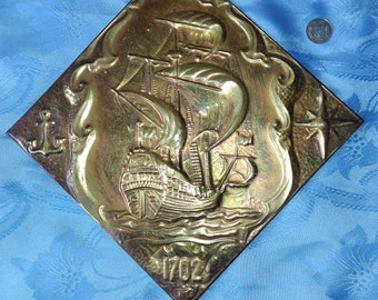USSR copper chased pattern
