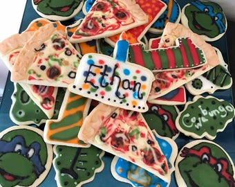 12 Teenage Mutant Ninja Turtle Sugar Cookies