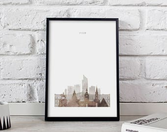 Oslo art Oslo print Oslo decor Oslo poster Oslo Skyline poster print Norway poster Oslo wall art Gift poster